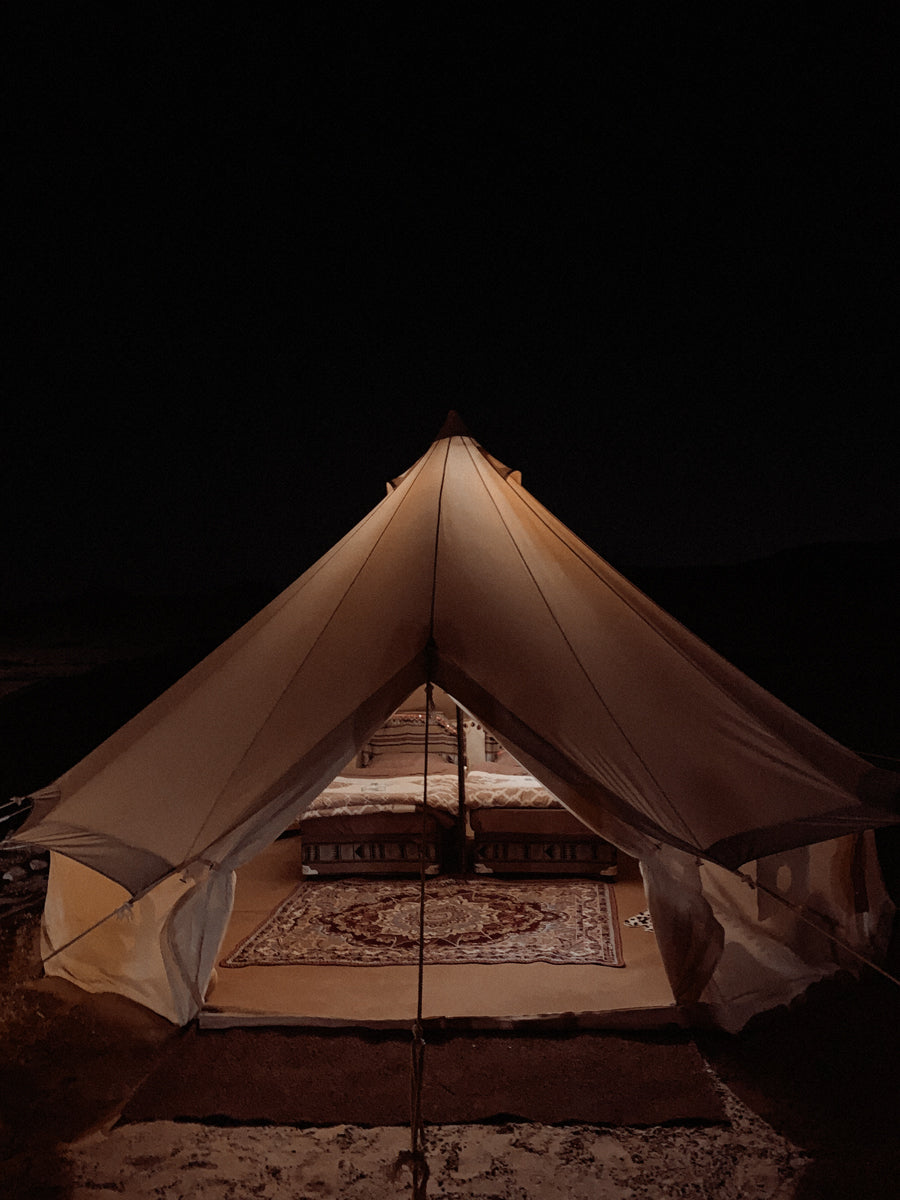 We chose to stay in a Bedouin tent in the desert in Oman