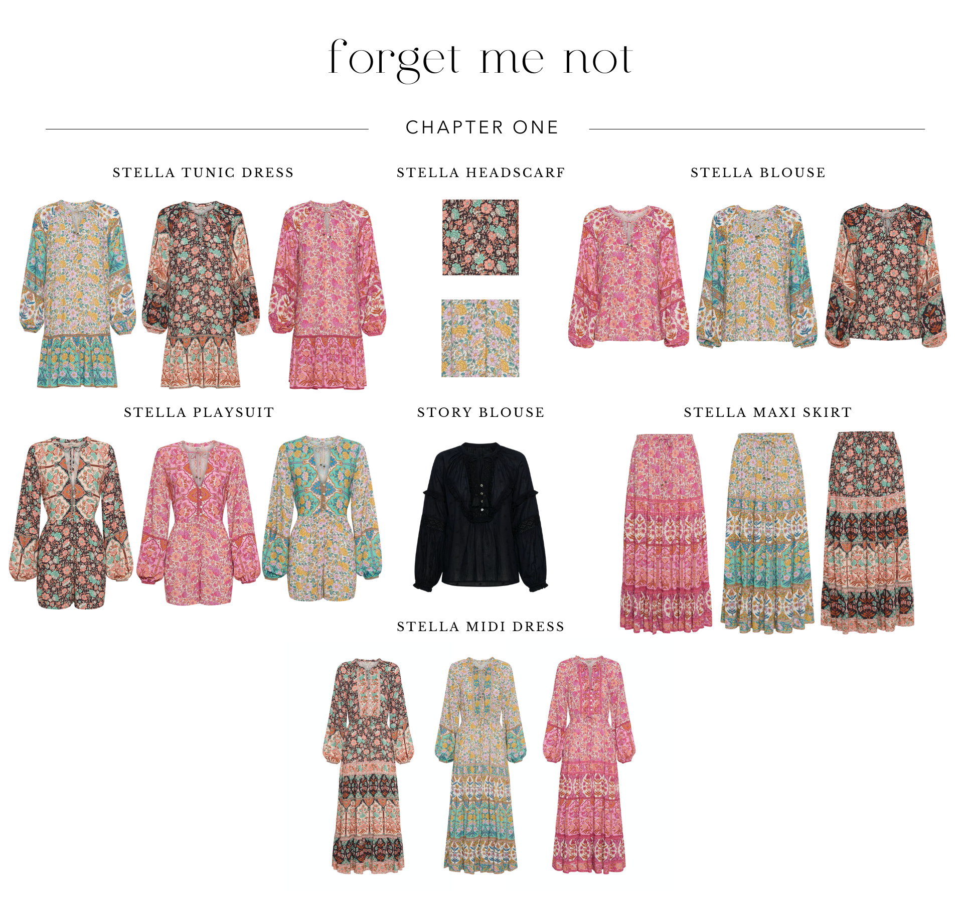 Shop chapter one of the sustainable fashion collection Forget Me Not