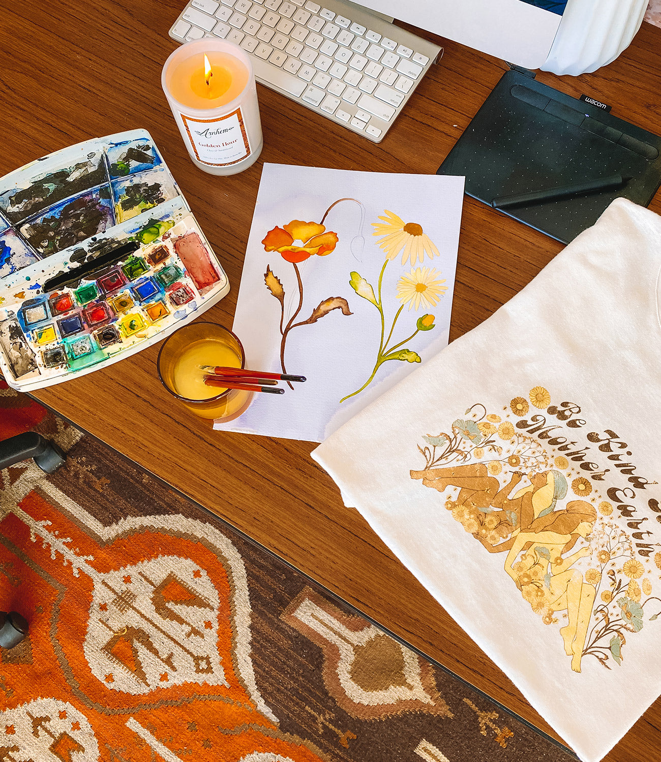 How artists create illustrations for t-shirt design on the blog at Arnhem