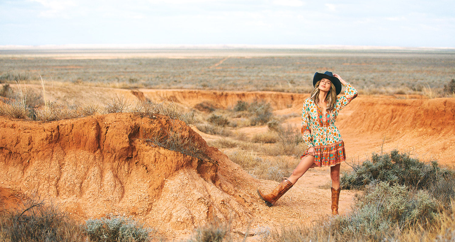 Nomada sustainable fashion campaign shot in the Australian outback of NSW