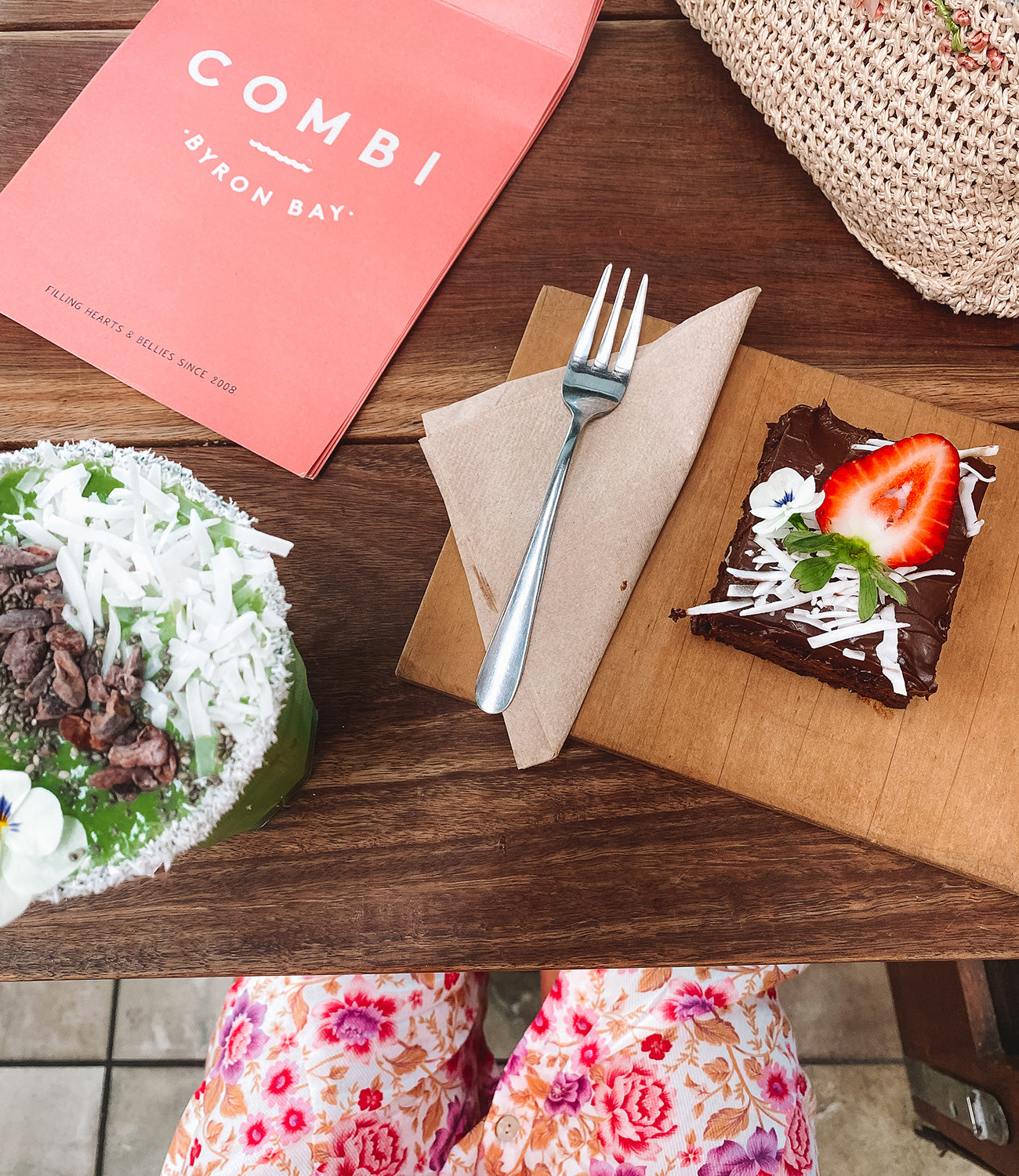 Organic raw food at Combi Byron Bay on the blog at Arnhem