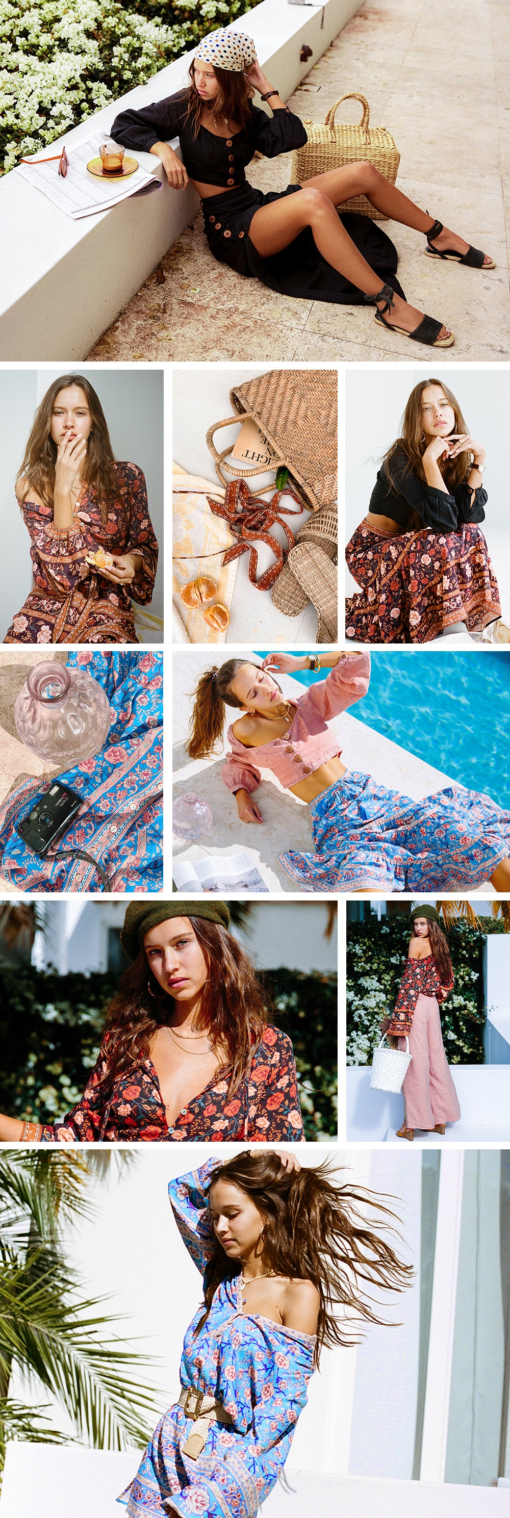 The new Serendipity Collection from Arnhem Clothing Byron Bay beautiful floral bohemian silhouettes