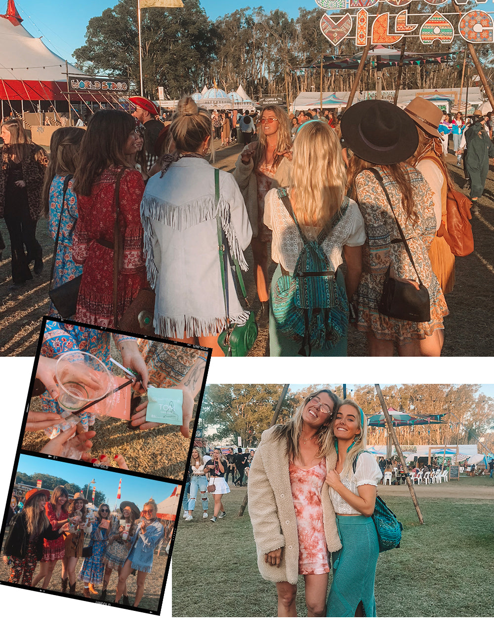 How to be sustainable at festivals - plastic free partying with Arnhem Clothing Byron bay
