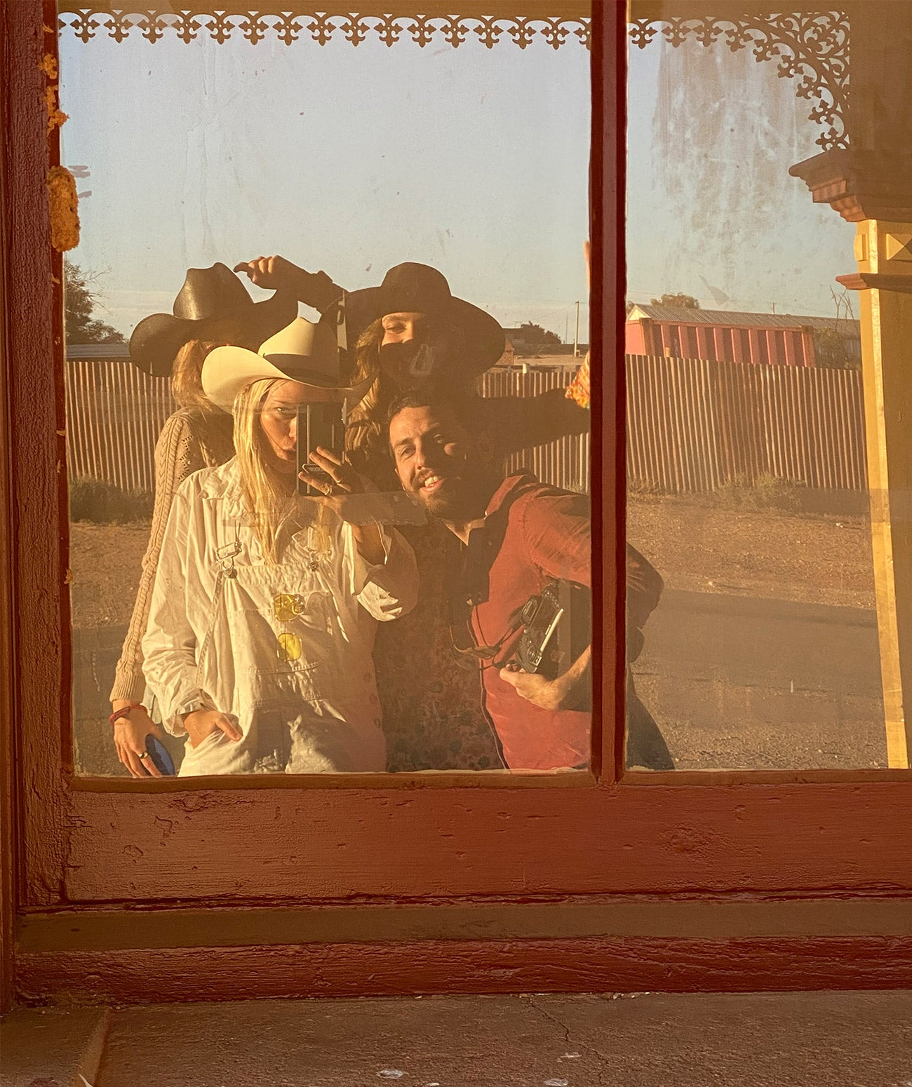 The Arnhem team on location for Nomada shot in the Australian outback of NSW including Silverton and Mungo national Park