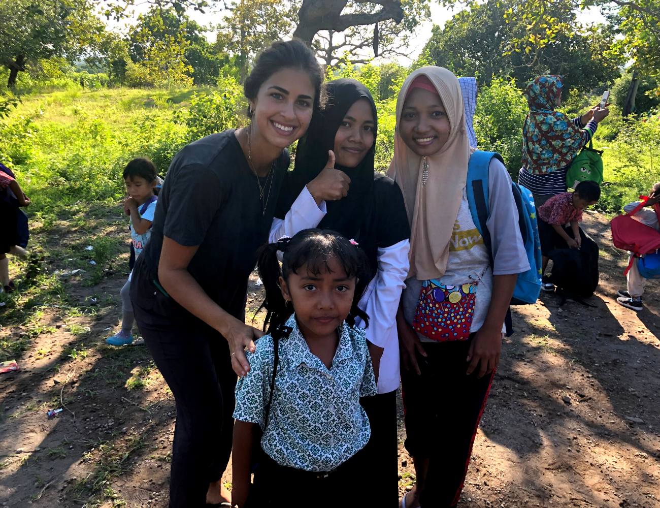 Bonito backpack donations in Lombok - find out more on the blog at Arnhem Clothing