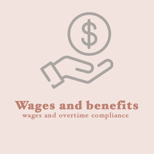 Wages and benefits