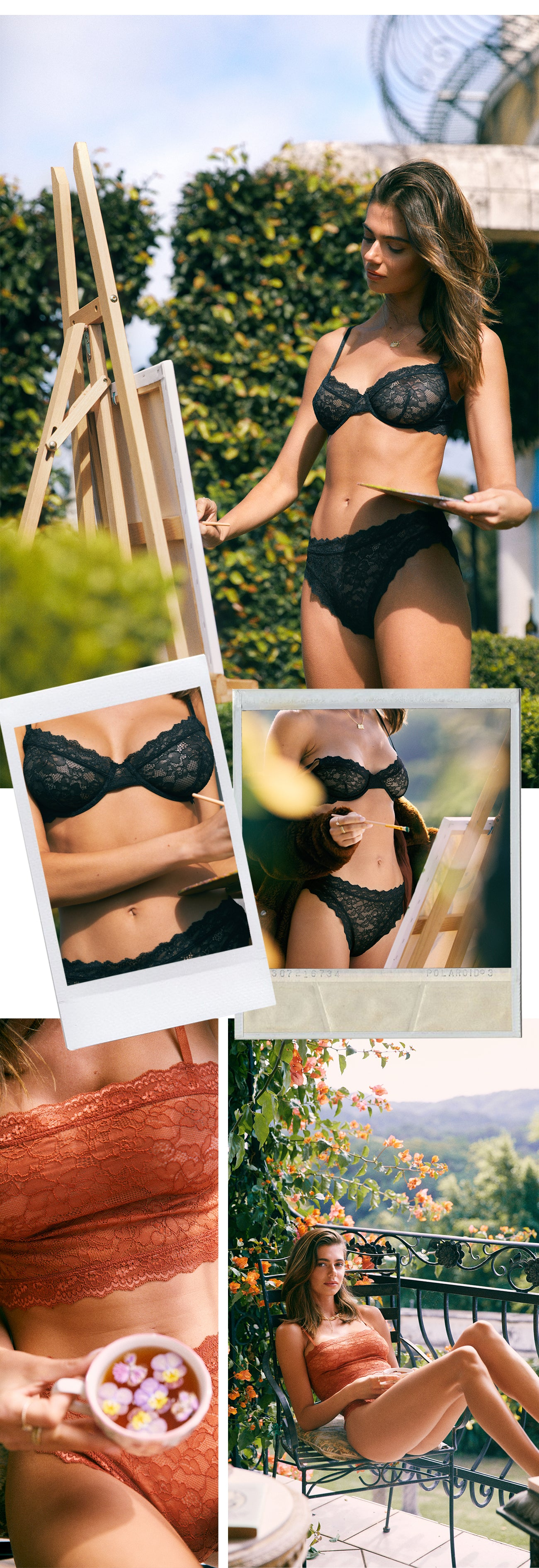 New sustainable lace lingerie from Arnhem in drop one of Golden Hour