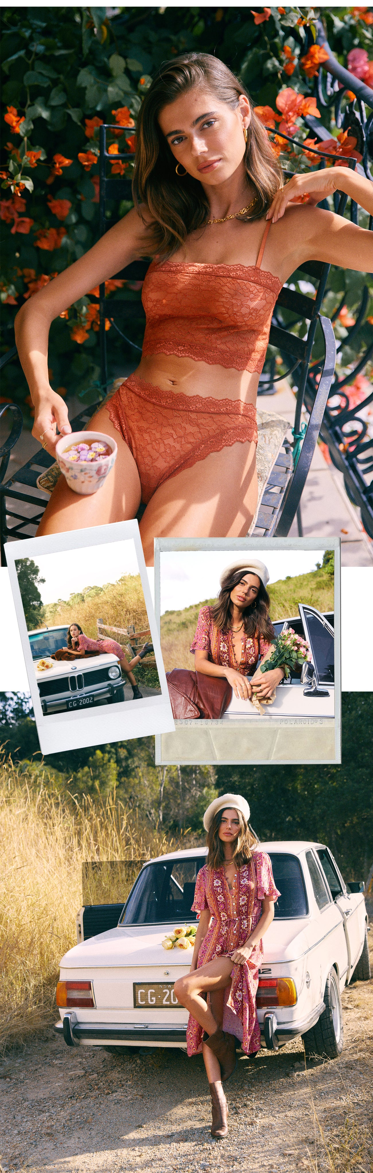Golden Hour collection drop one offers sustainable intimates made from stretchy lace