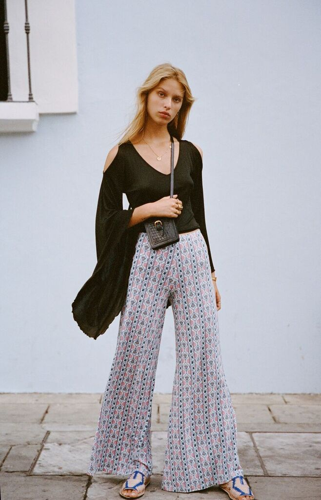 Harper Bell Bottoms in Sky