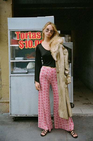 Harper Bell Bottoms in Rouge