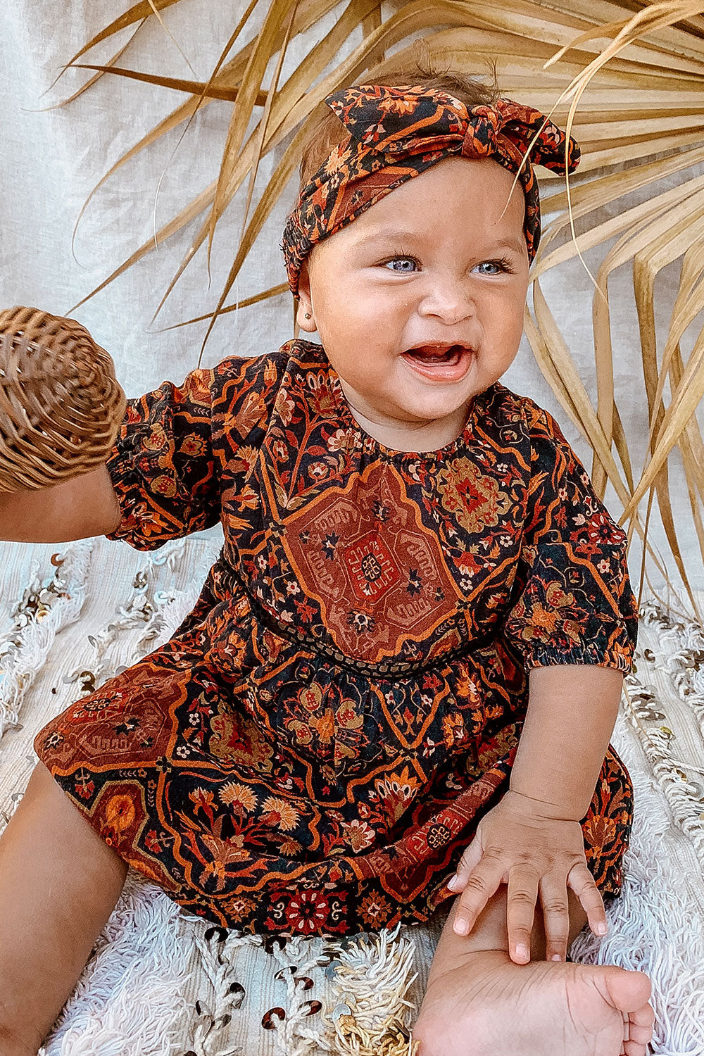 Zephyr Baby Dress in Pepper