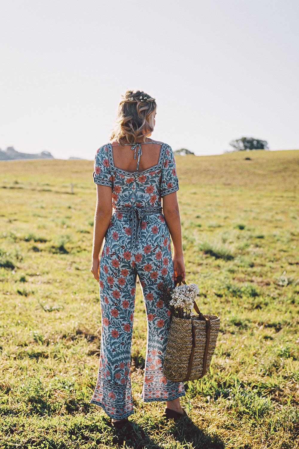 Marigold Jumpsuit in Crystal