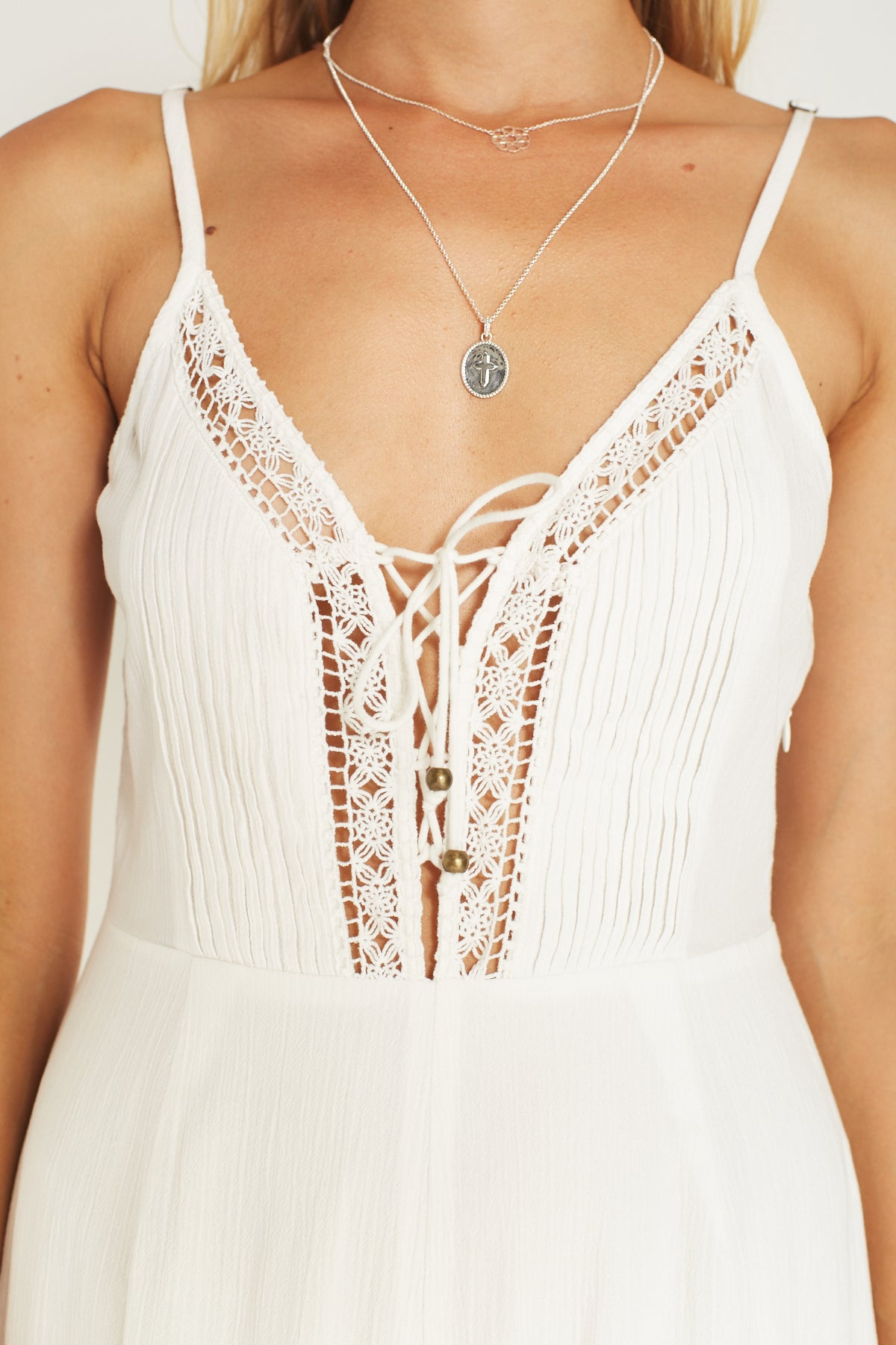 Melody Jumpsuit White