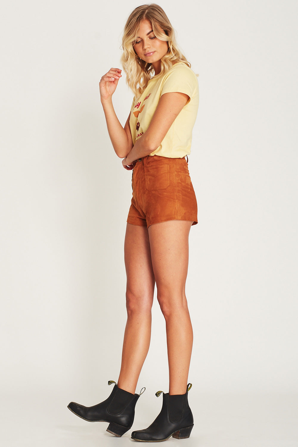 Lone Ranger Suede Shorts in Terracotta