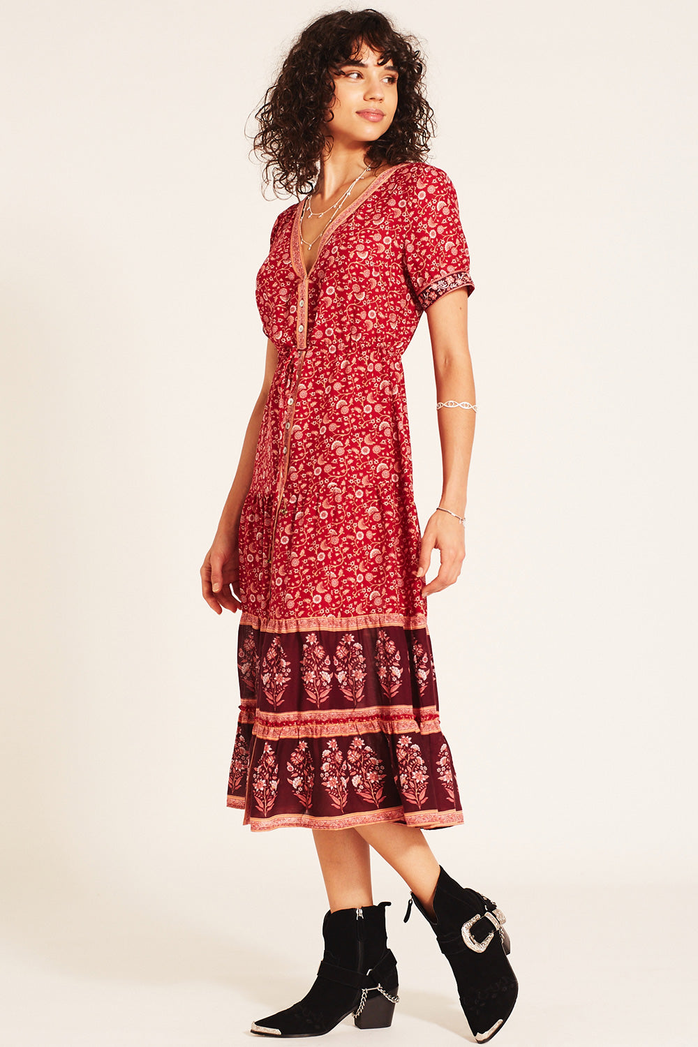 Wisteria Sundress in Crimson