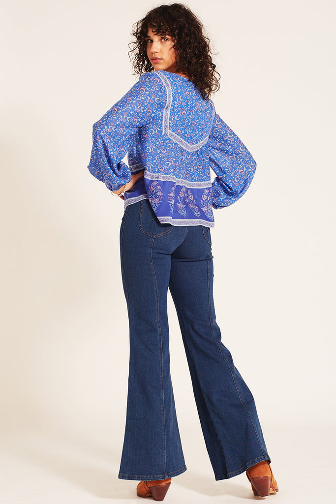 Wisteria Blouse Moonlight Blue
