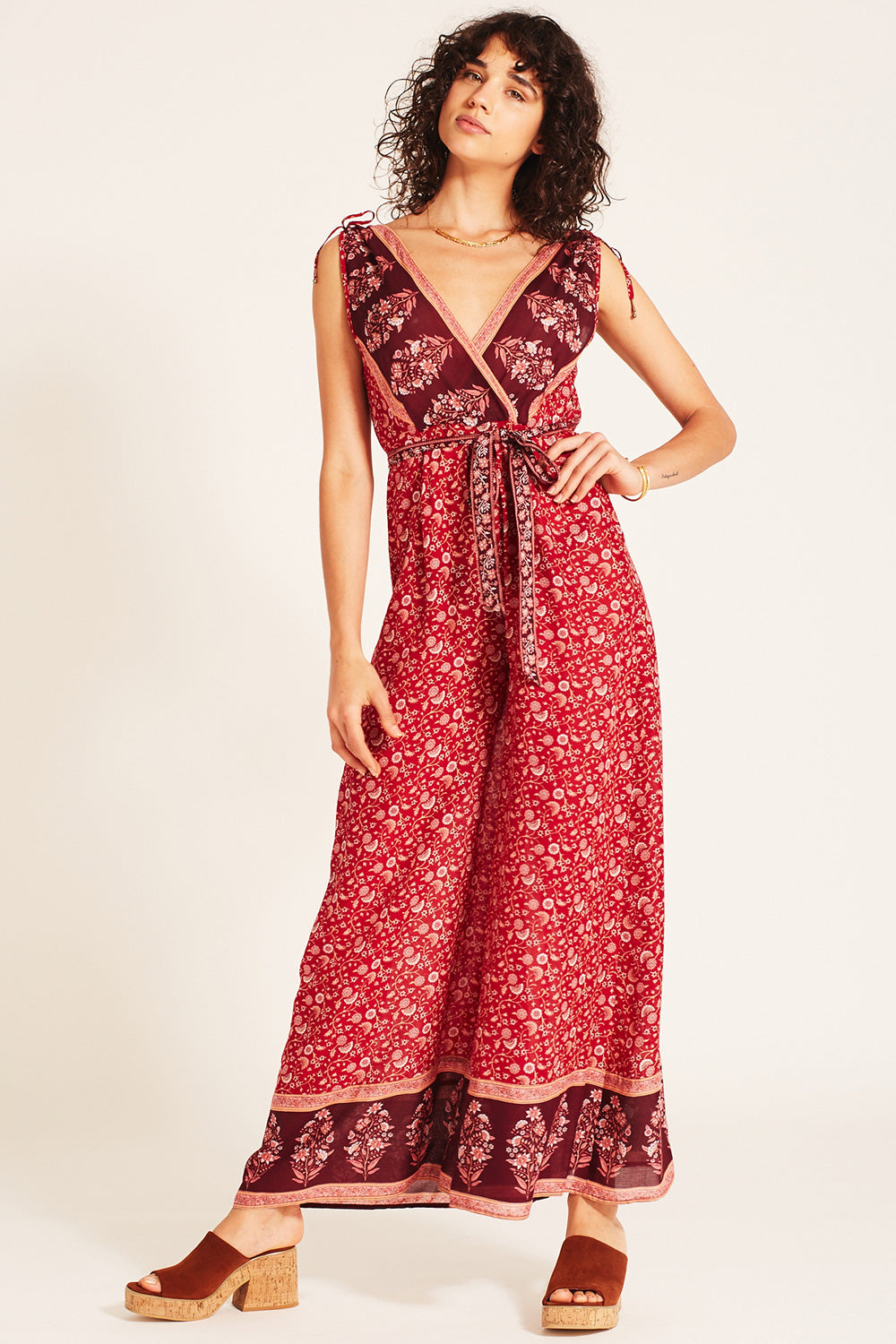 Wisteria Jumpsuit in Crimson