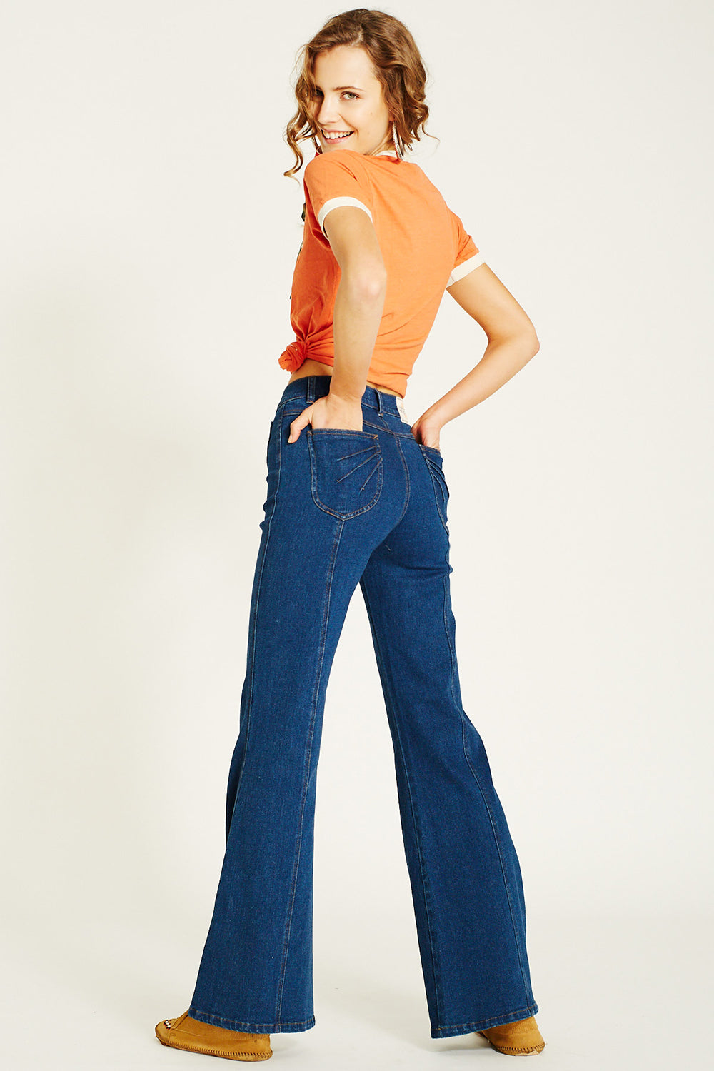 Francis Bell Bottoms in Denim