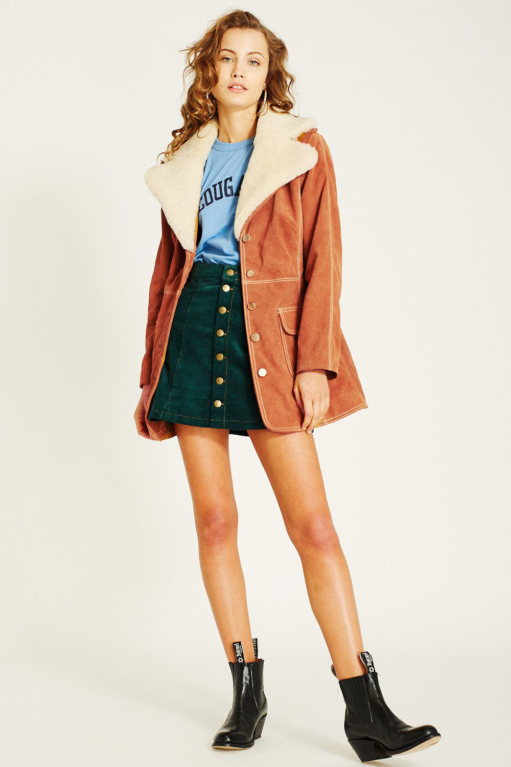 Farrah Suede Jacket in Tan