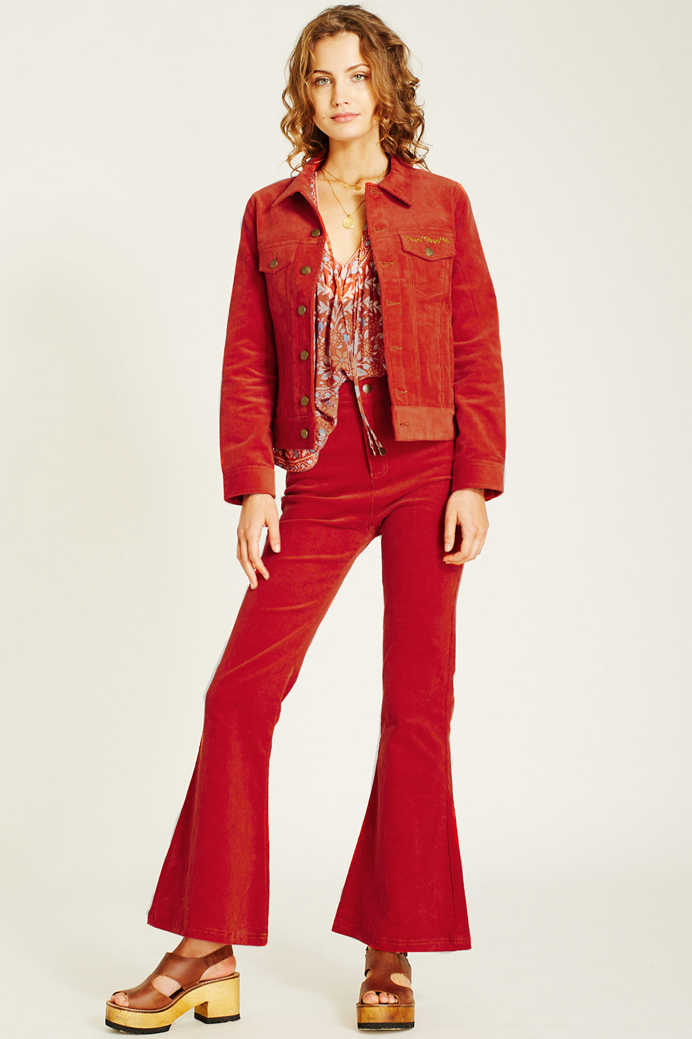 Ginger Cord Jacket in Bossa Nova