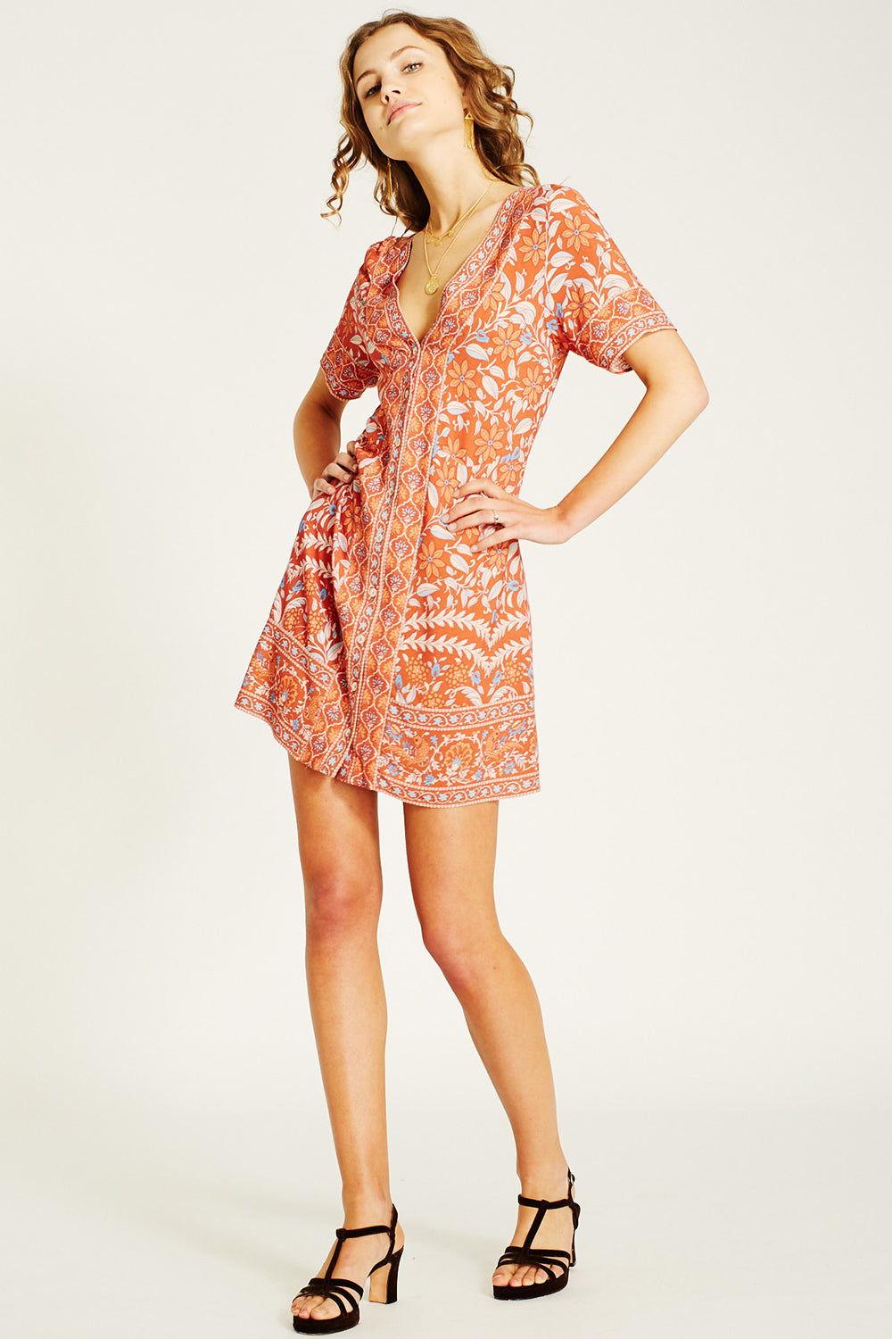Marigold Mini Dress in Ochre