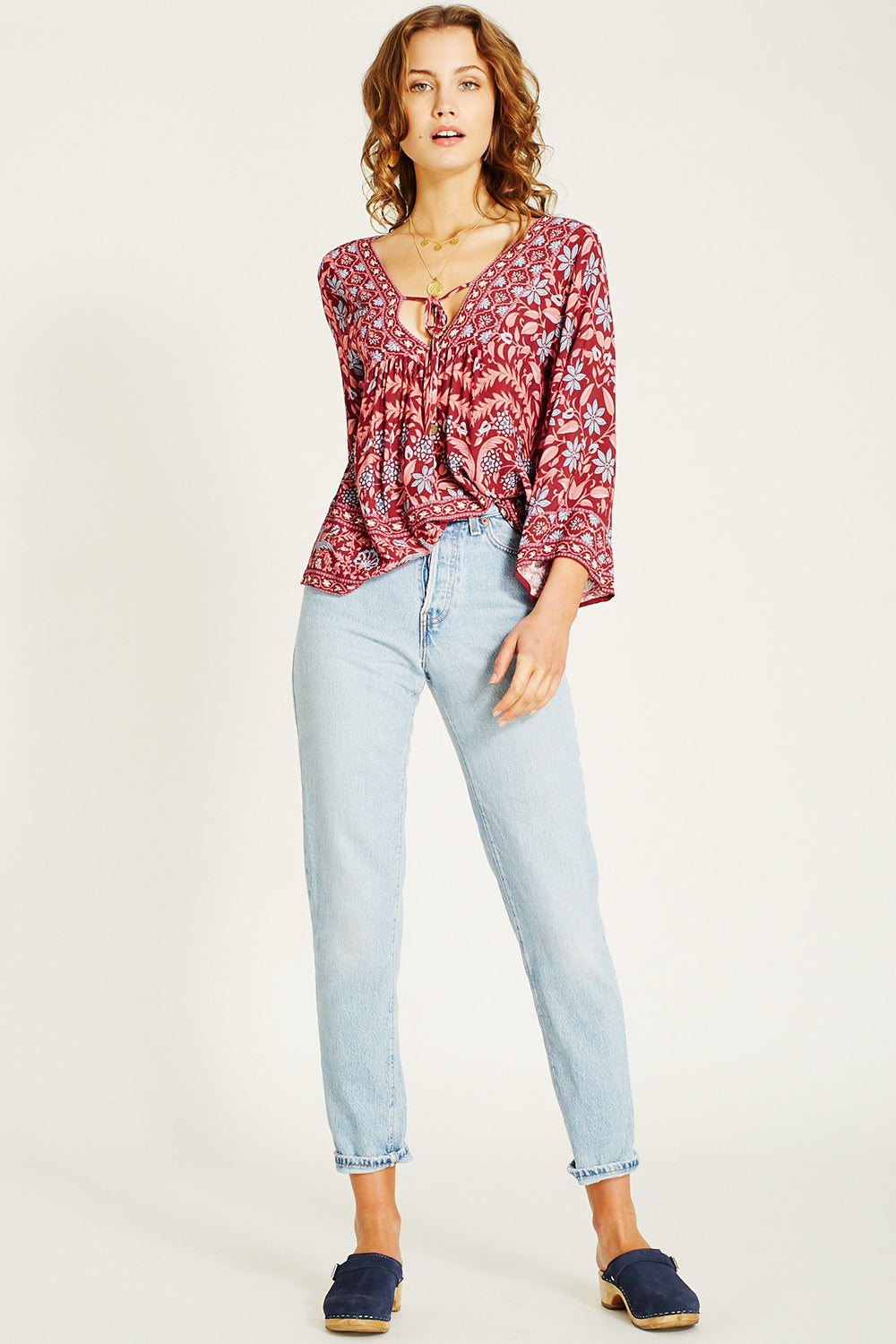 Marigold Blouse in Rhubarb