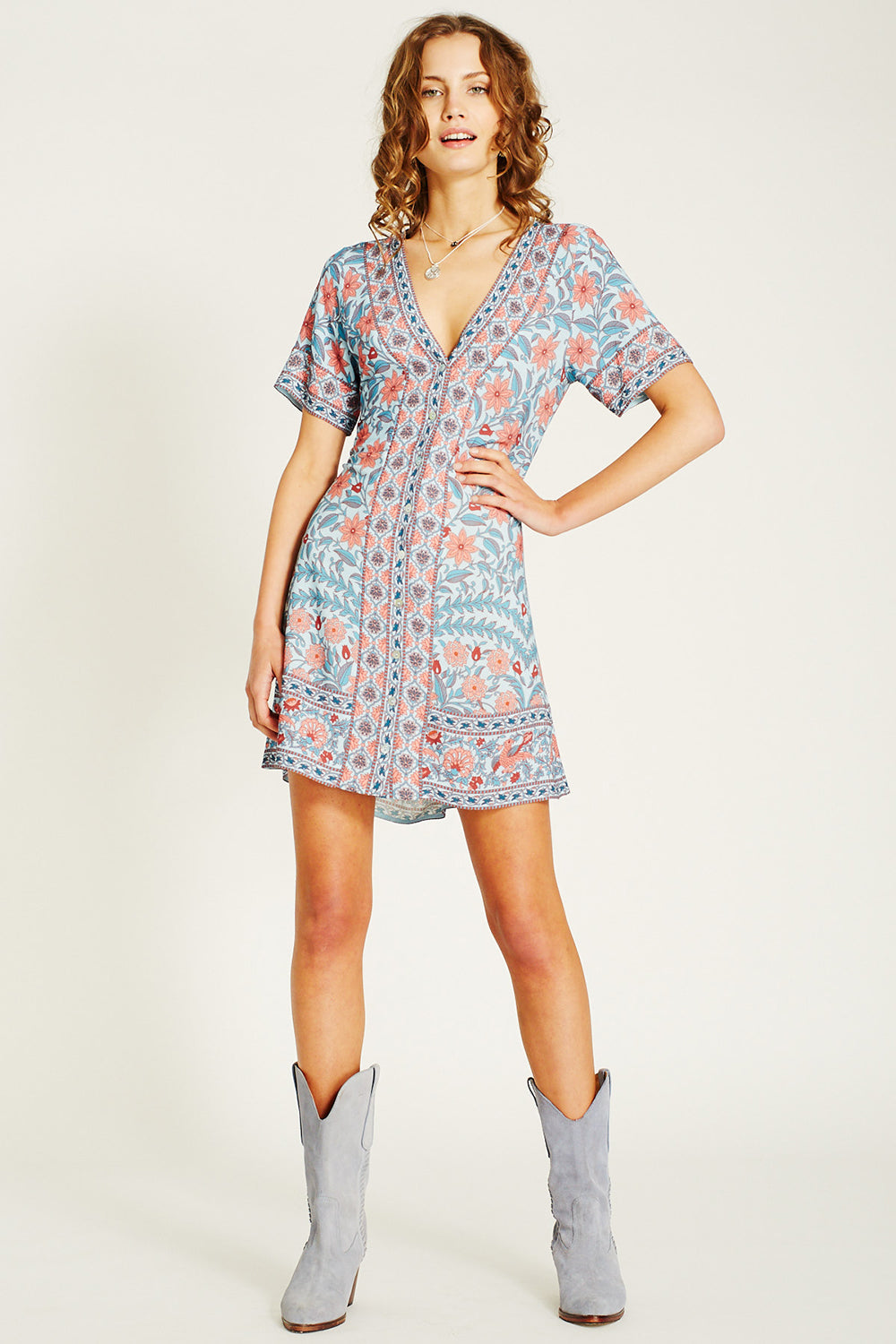 Marigold Mini Dress in Crystal