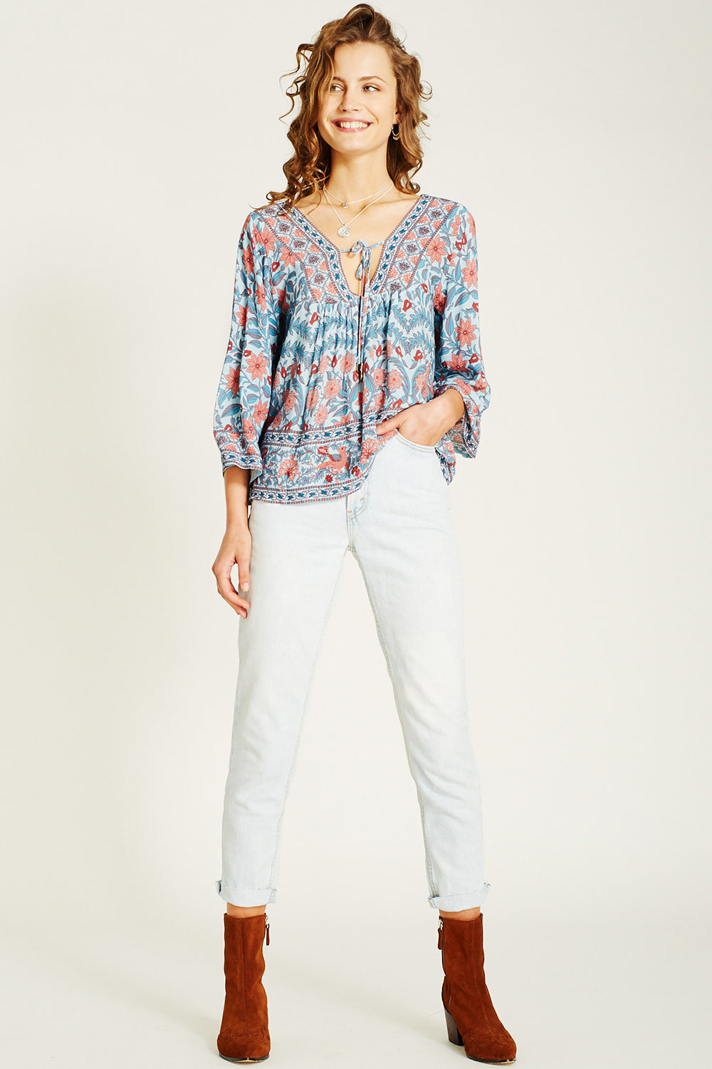 Marigold Blouse in Crystal