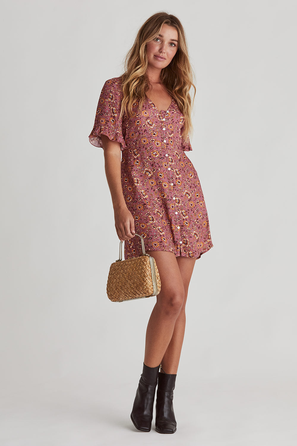 Esmee Mini Dress in Maple