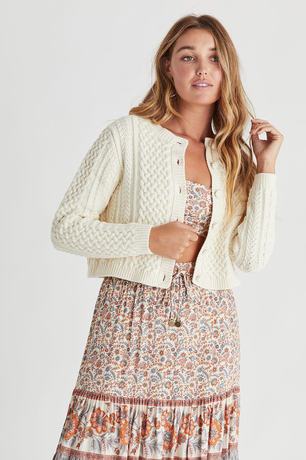 Daisy Cardigan in Buttermilk