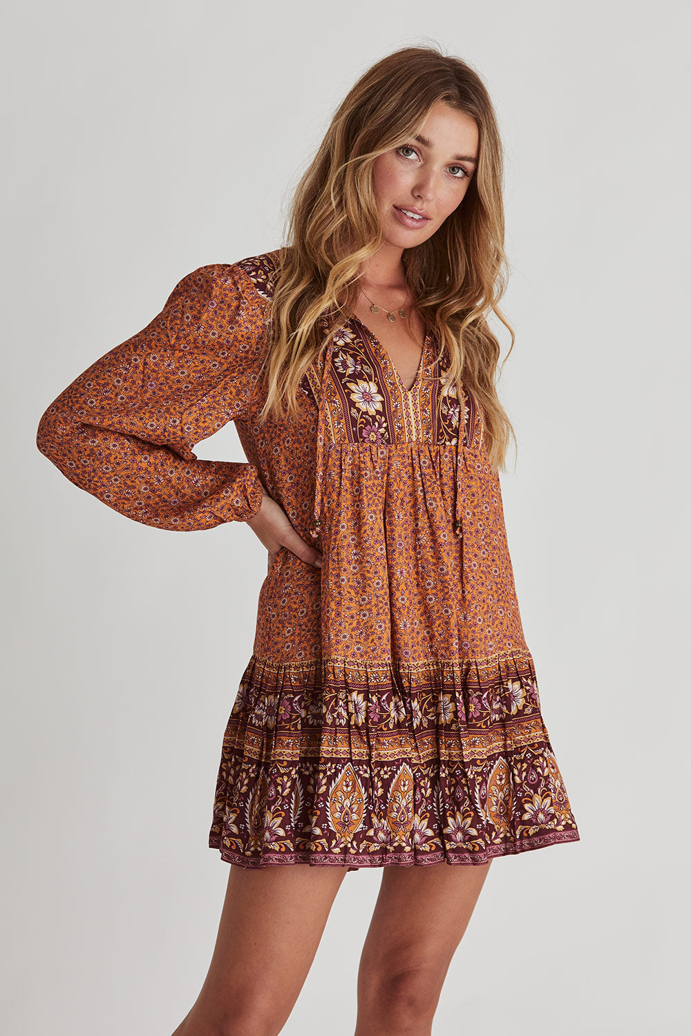Esmee Tunic Dress in Maple