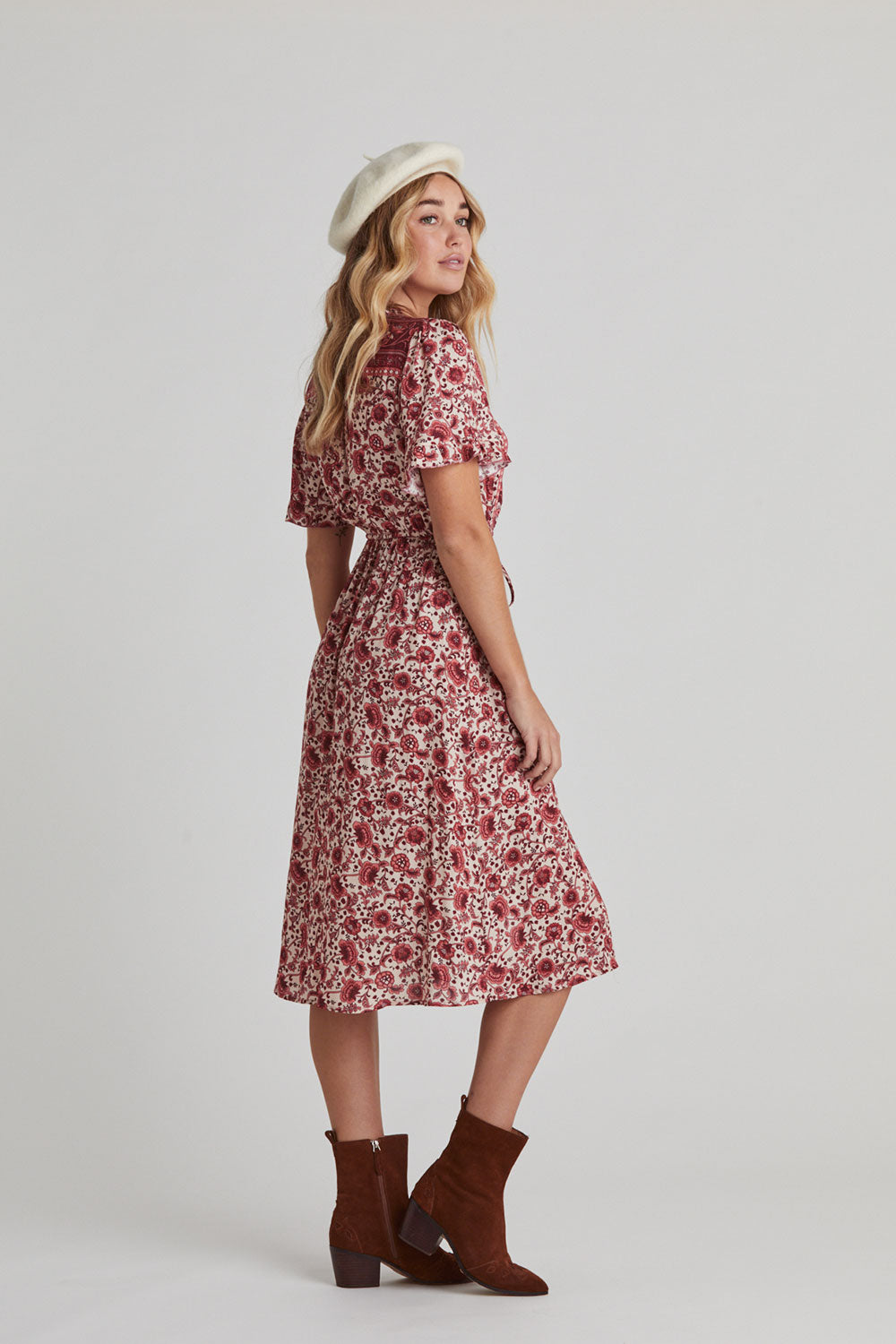 Esmee Sundress in Ruby