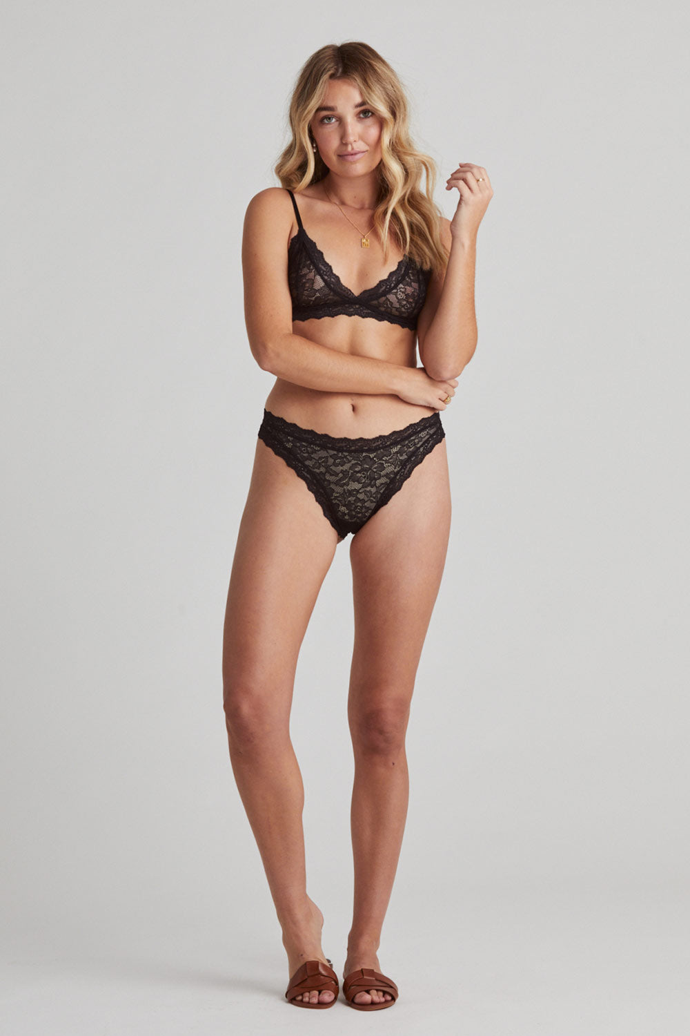 Faith Triangle Bra in Noir