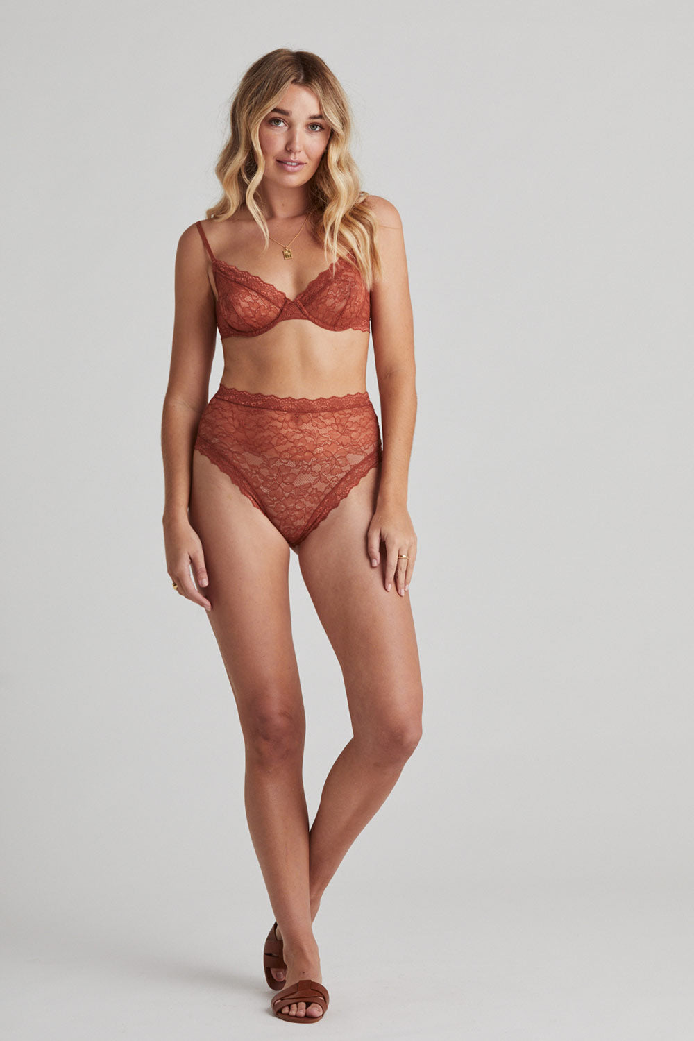 Faith Underwire Bra in Rust