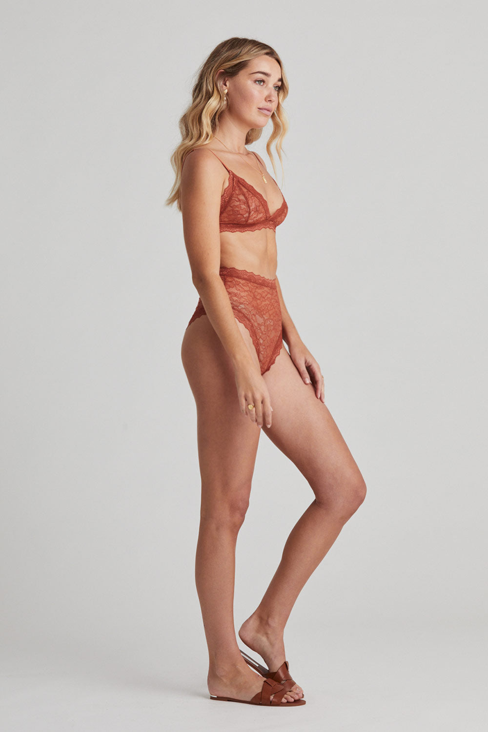 Faith Triangle Bra in Rust