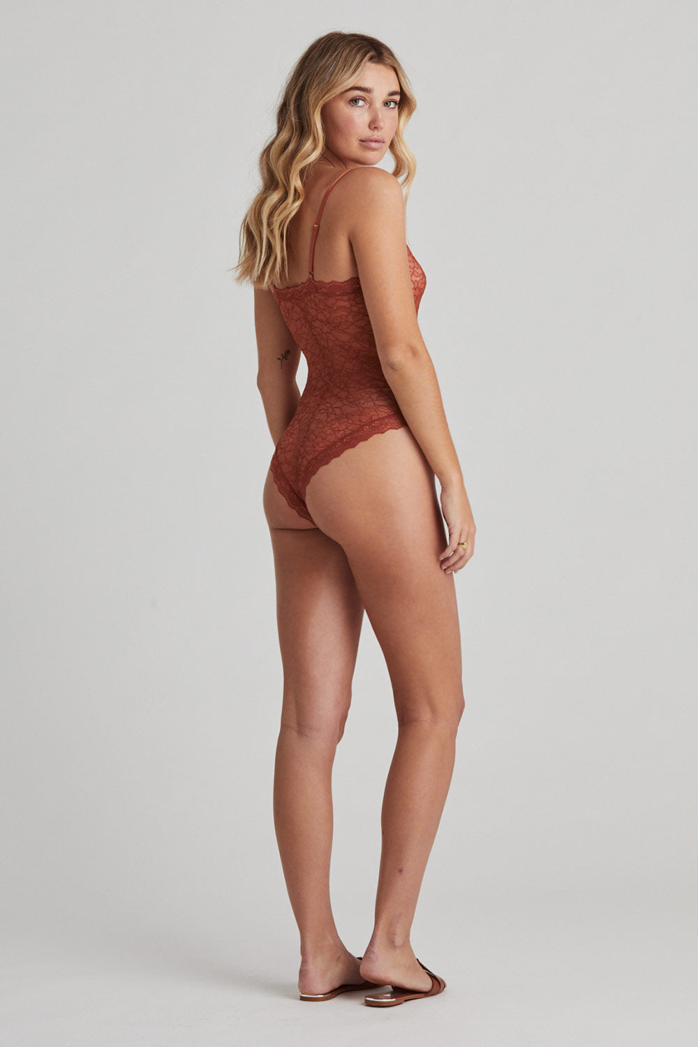 Faith Bodysuit in Rust
