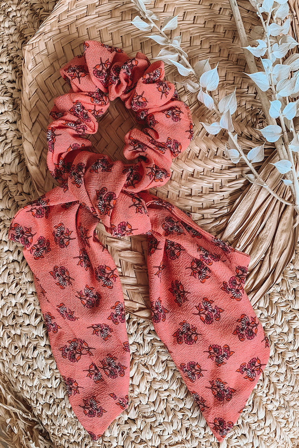Serafina Revive Bow Scrunchie in Sweet Cherry