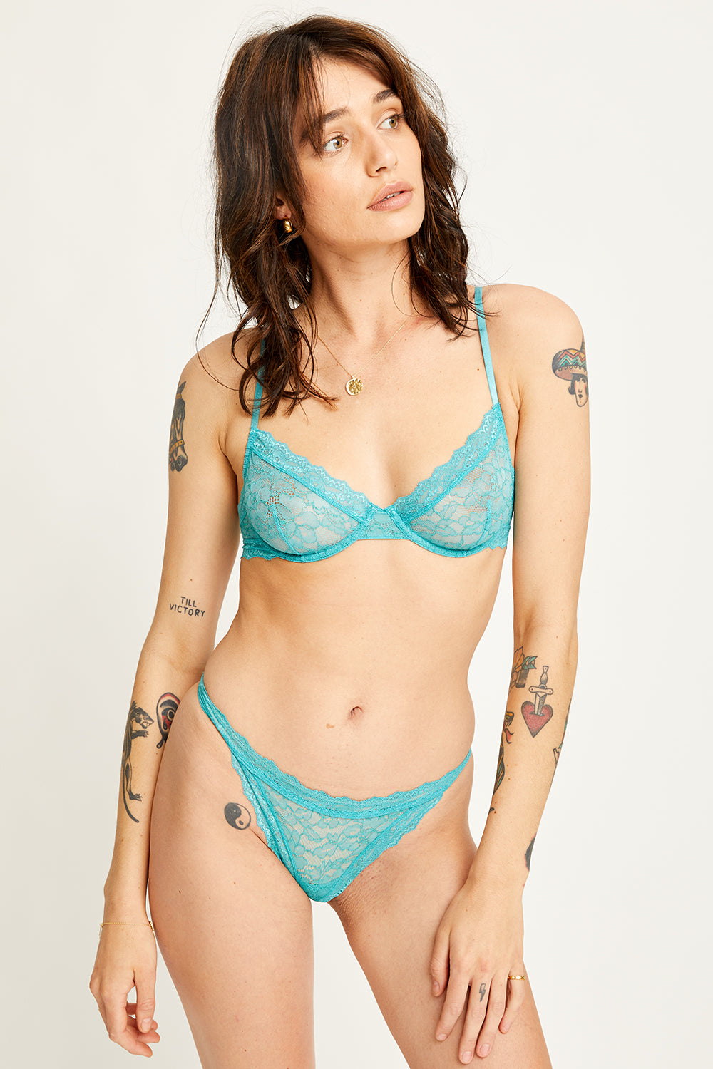 Faith Cheeky Knickers in Teal