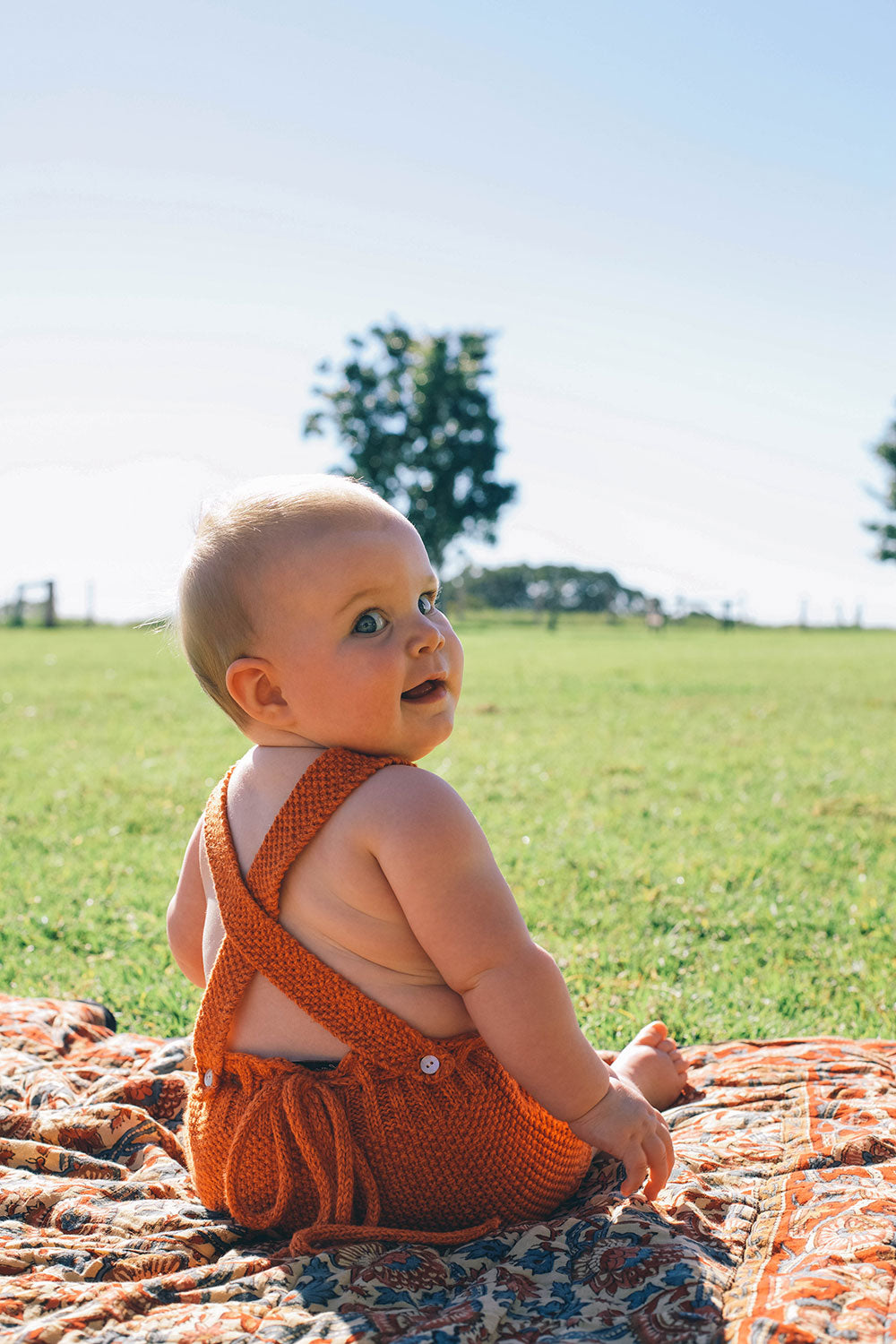 Avalon Baby Knit Romper in Citrine