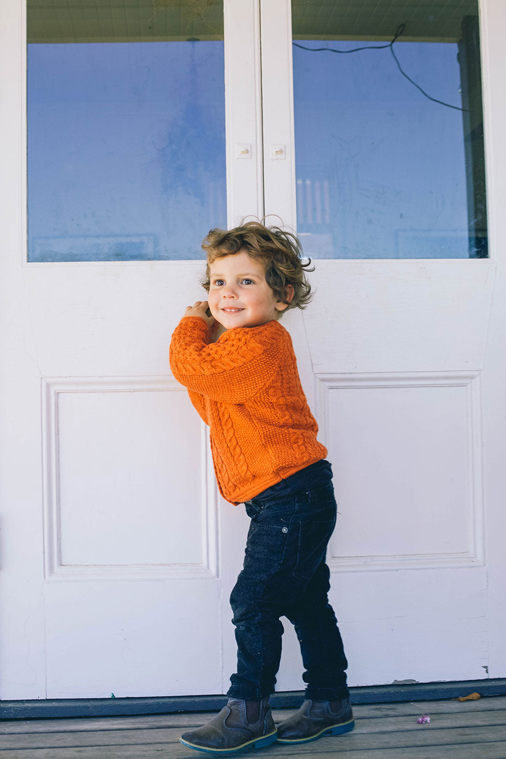 Avalon Kiddies Knit Cardigan in Citrine