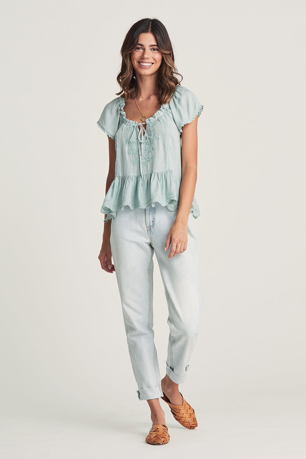 Dreamers Blouse in Misty Blue