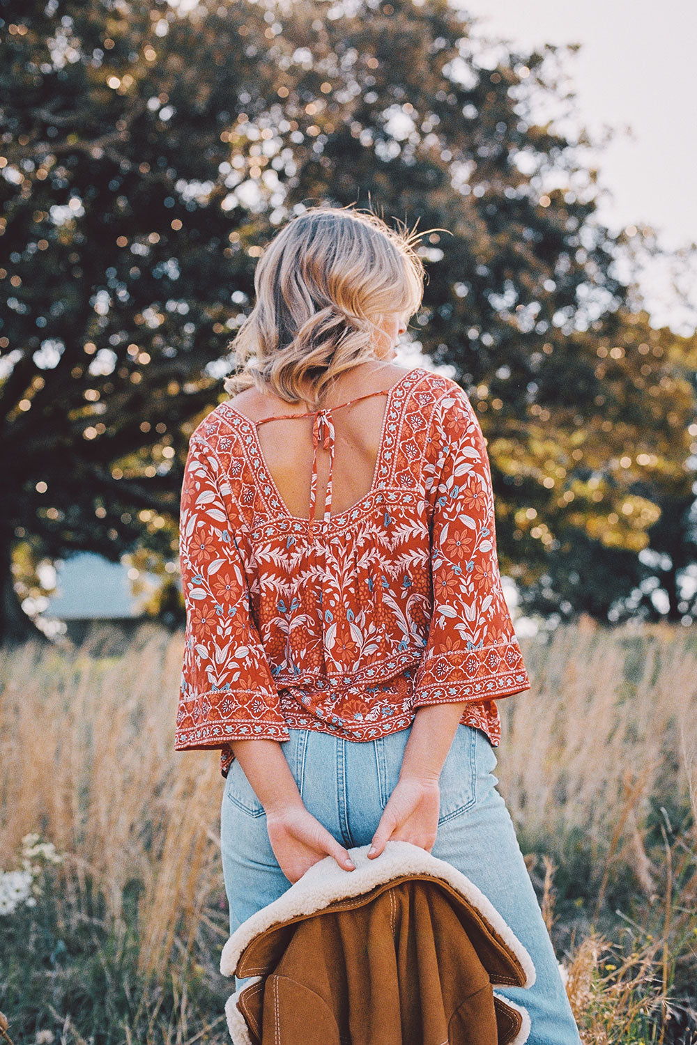 Marigold Blouse in Ochre