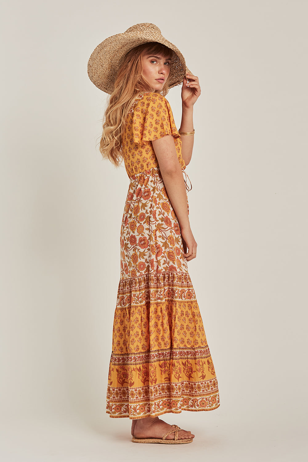 Abigail Maxi Dress in Honey