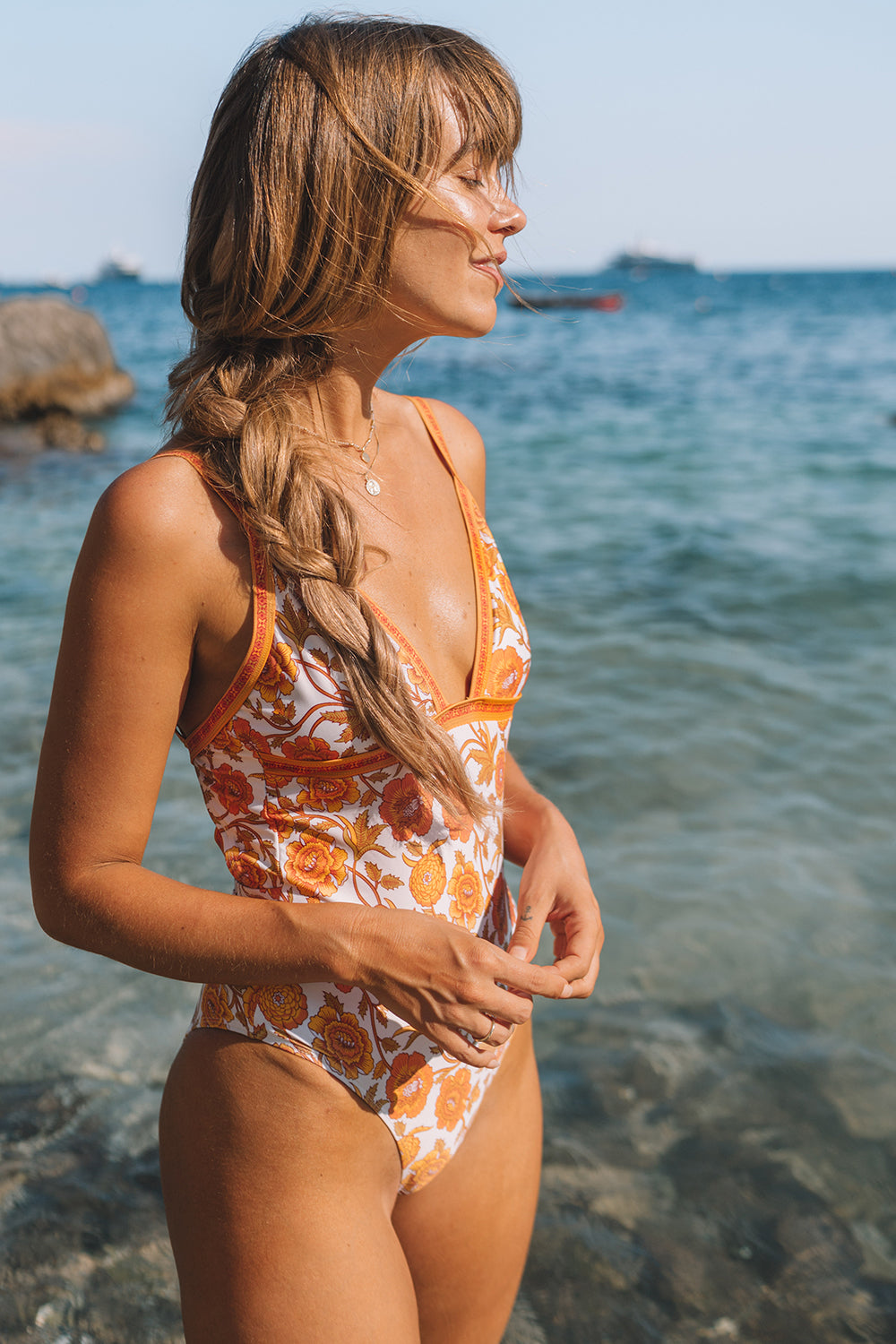 Abigail One Piece in Honey