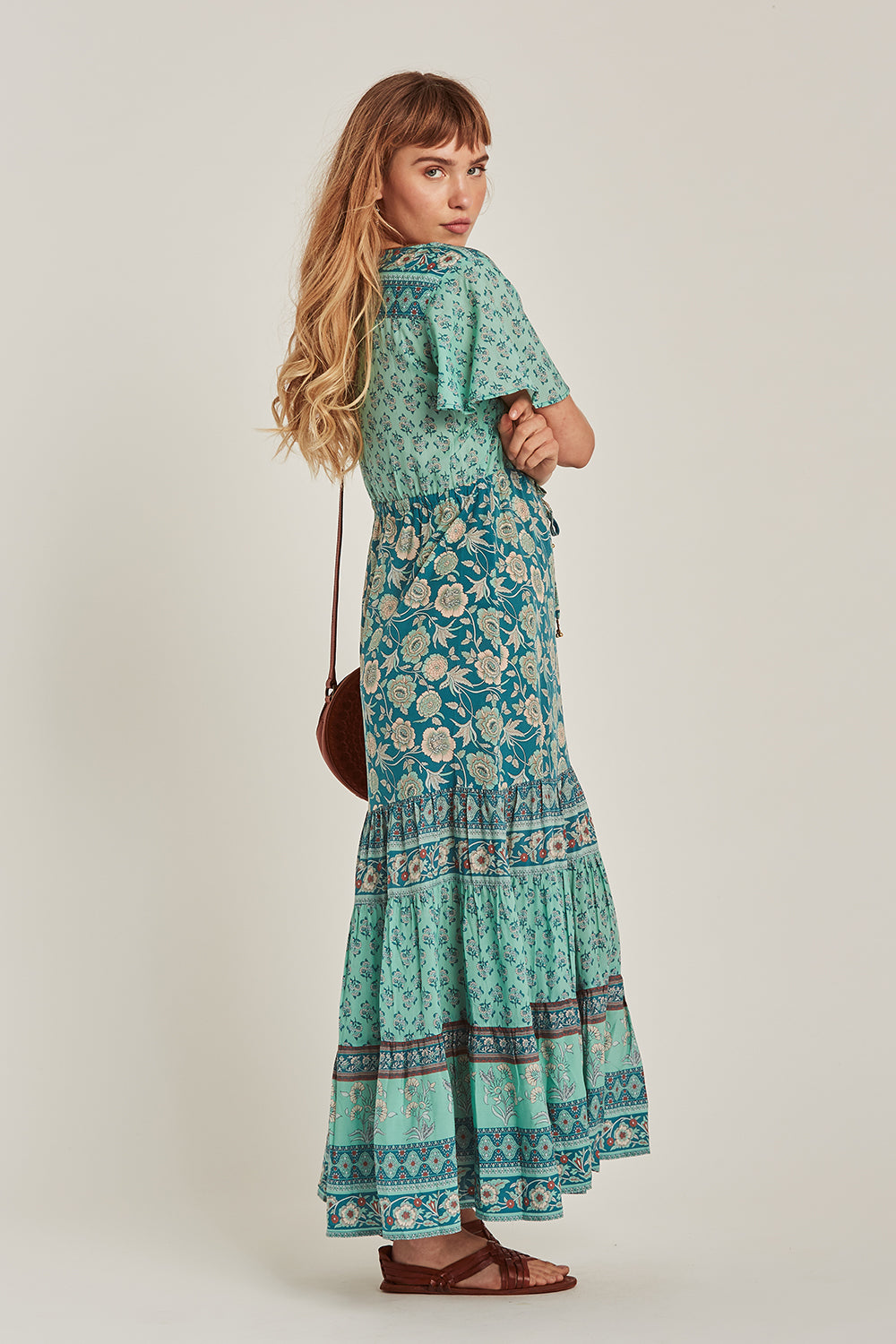 Abigail Maxi Dress in Opal