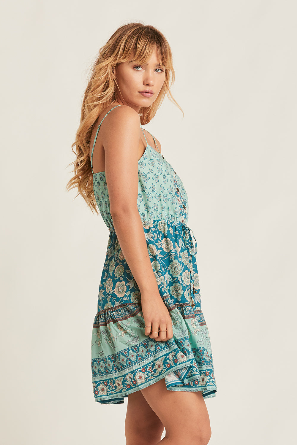 Abigail Mini Dress in Opal