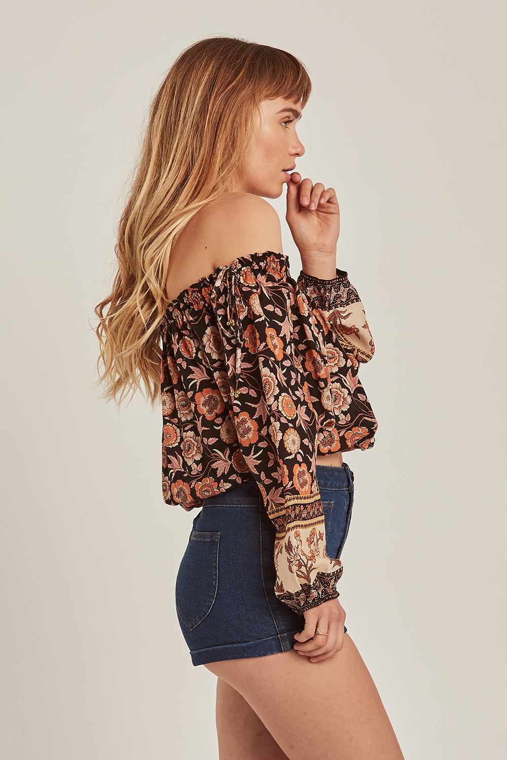Abigail Off The Shoulder Top in Raven
