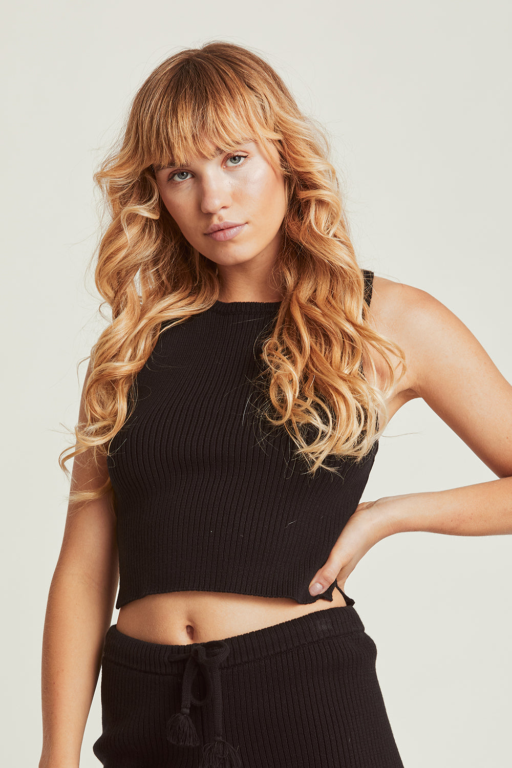 Taylor Knitted Crop in Midnight
