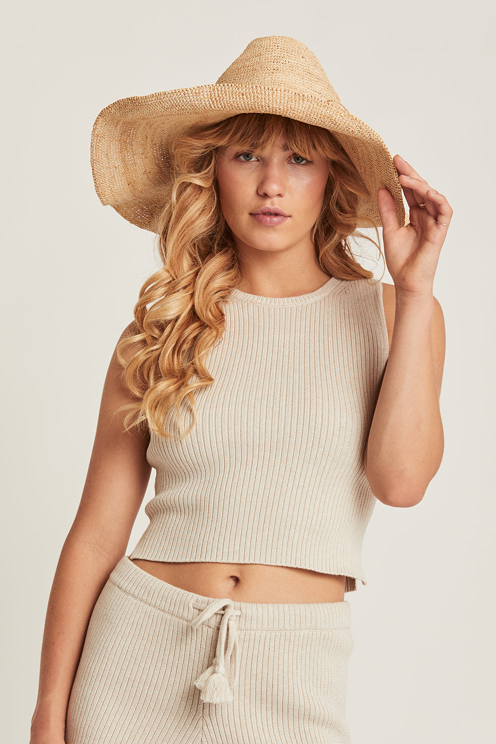 Taylor Knitted Crop in Driftwood