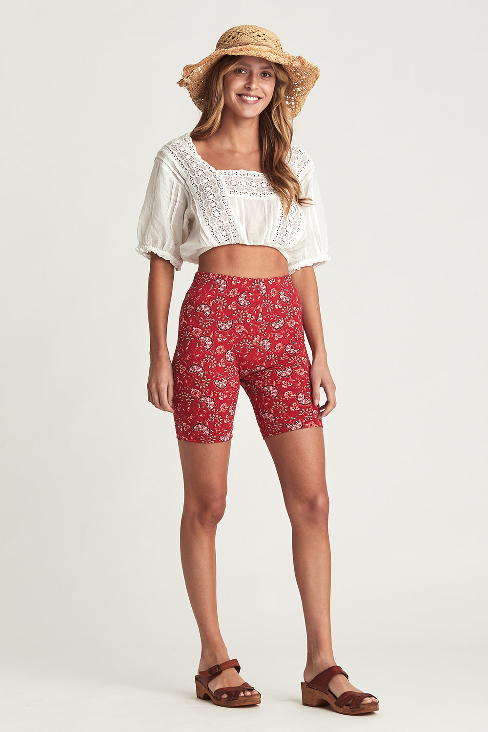 Amelie Bike Shorts in Cassis